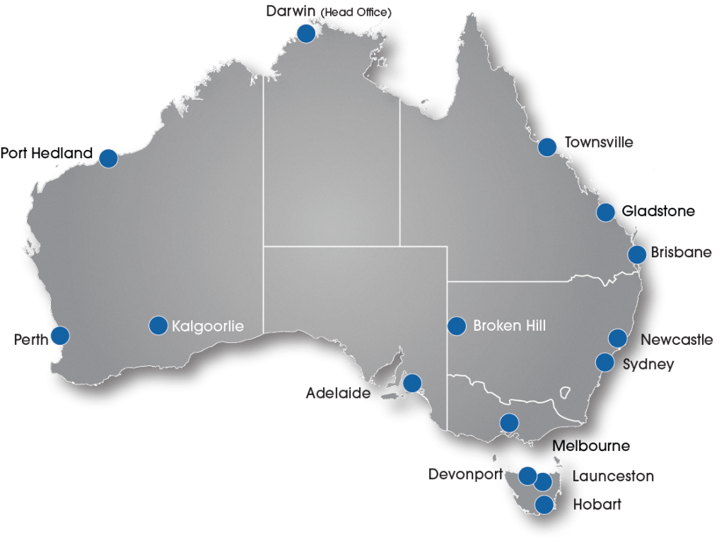 Map of Australian Branches